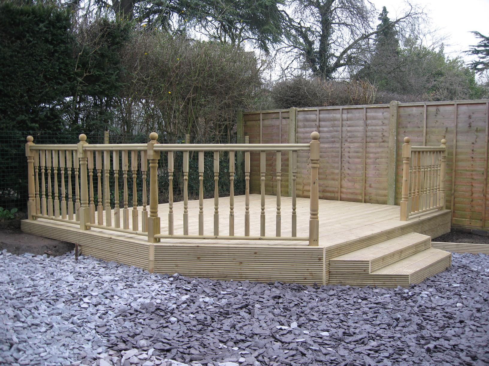 Az contracting for Garden decking handrails